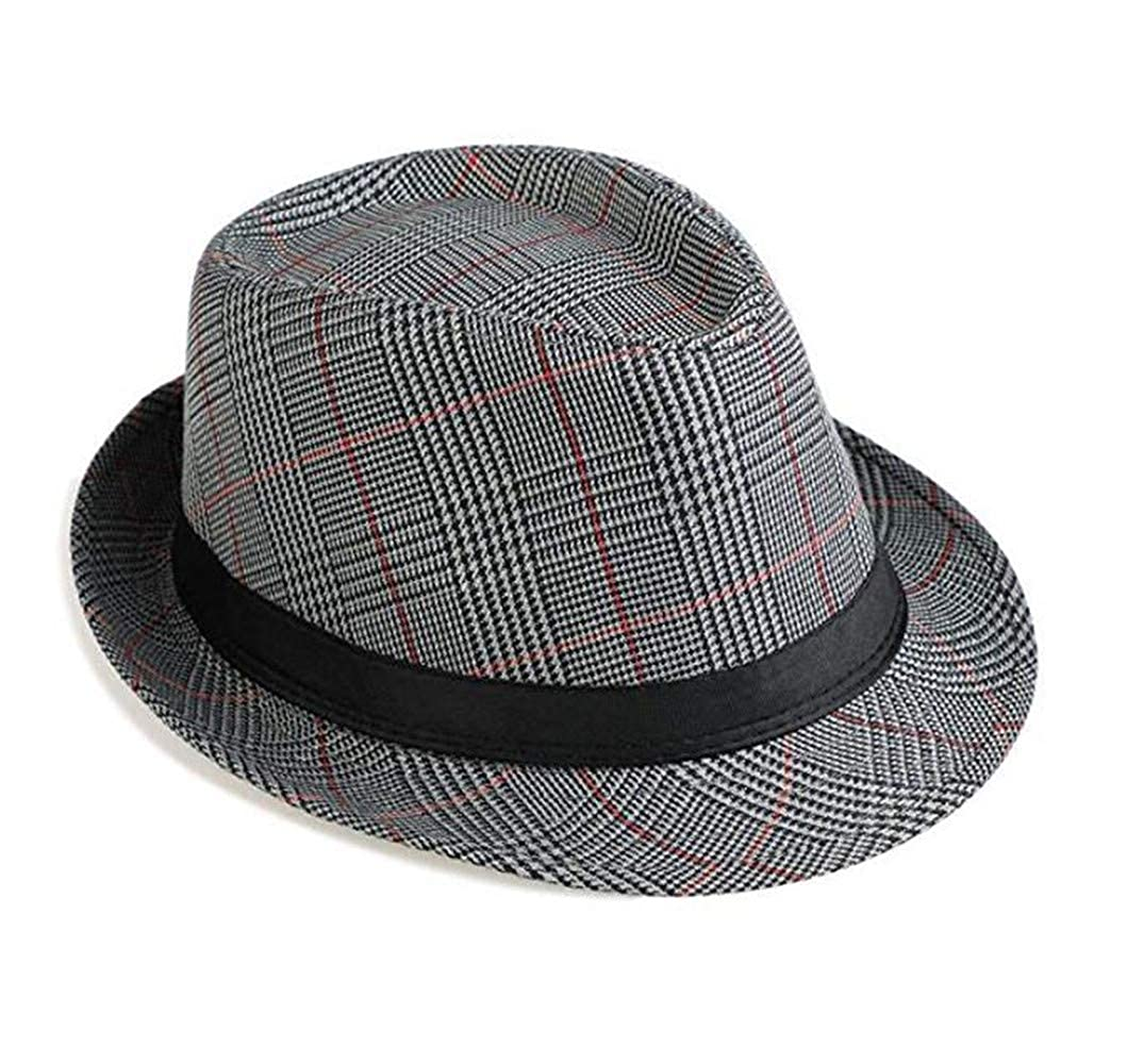 1141e0a26d273d Bhwin Mens Fedora Hat Light Weight Panama Cap Winter Autumn Short Brim Jazz  Hat