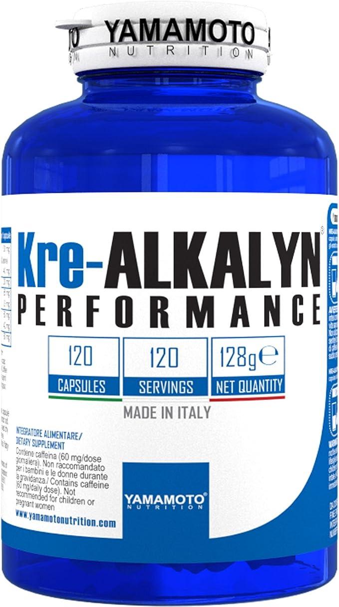 Yamamoto Nutrition Kre-Alkalyn Performance Suplemento - 120 Cápsulas