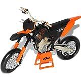 KTM 450 SM-R09 2009 Orange Schwarz Enduro 1/12 Automaxx Modell Motorrad mit individiuellem Wunschkennzeichen