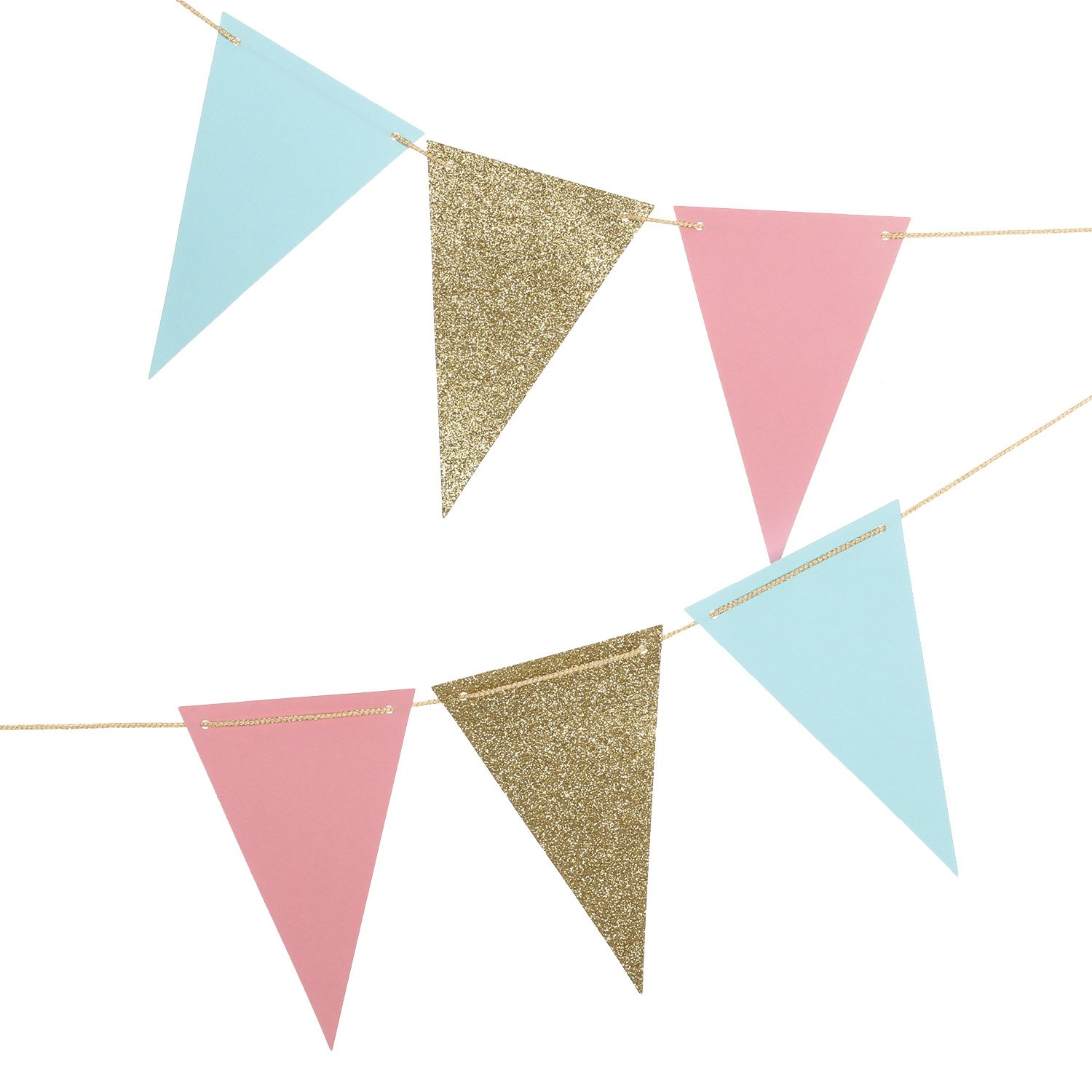 Lings Moment 10 Feet Paper Pennant Banner Triangle Garland Vintage
