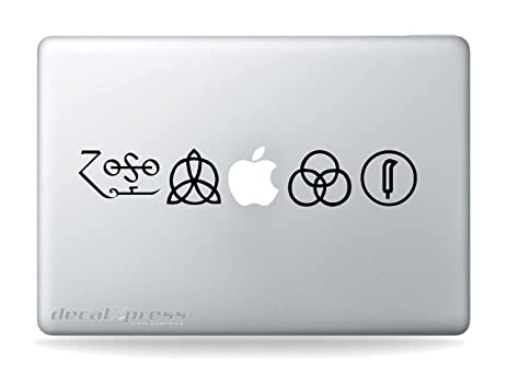 Rock band macbook air pro 11 13 15 17 stickersdecal ledzepellin