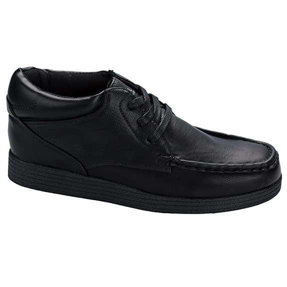 Junior Boys Henleys Clover Mid Boot In Black-Lace Fastening-Dot Detail To:  Amazon.co.uk: Shoes & Bags