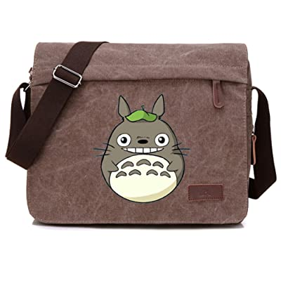 Gumstyle My Neighbor Totoro Anime Cosplay Canvas Messenger Bag Laptop Bags Schoolbag for Boys Girls