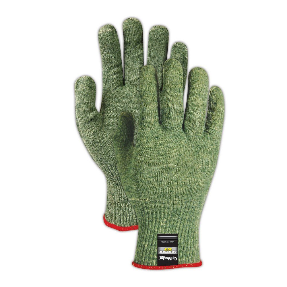Magid Glove & Safety AX150-11 Cut Master Aramax XT AX150 Lightweight Gloves, Cut Level 5, Size 11, Green (Pack of 12)