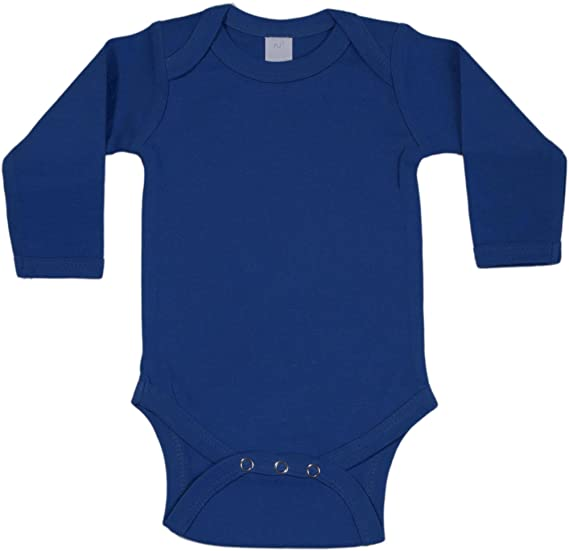 Amazon.com  Baby Milano Royal Blue Onesie Long Sleeve  Infant And ... 2bd802f26851