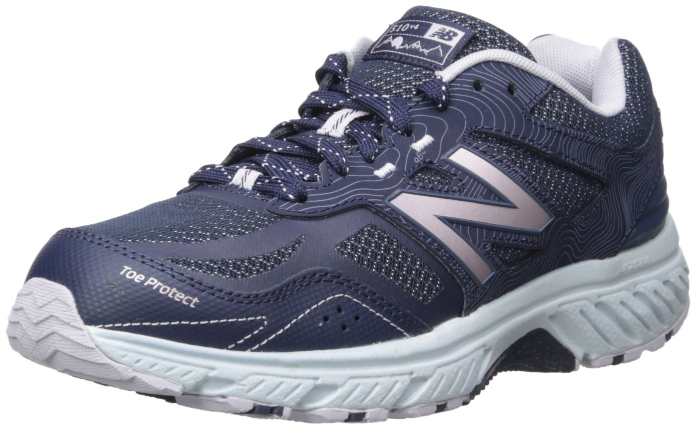 New Balance Women's 510v4 Cushioning Trail Running Shoe B0751S7LRT 10.5 B(M) US|Navy