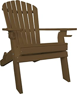 product image for Poly Recycled Plastic Adirondack Chair with Two Cupholder-Tudor Brown
