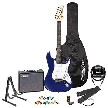 Silvertone revólver SS11 Colbalt azul guitarra eléctrica w/soporte ...