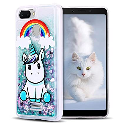 SpiritSun Funda Xiaomi Redmi 6, Silicona TPU Carcasa Transparente Líquido Bumper Tapa Quicksand Cubierta Trasero Flexible Suave Protectora Case ...