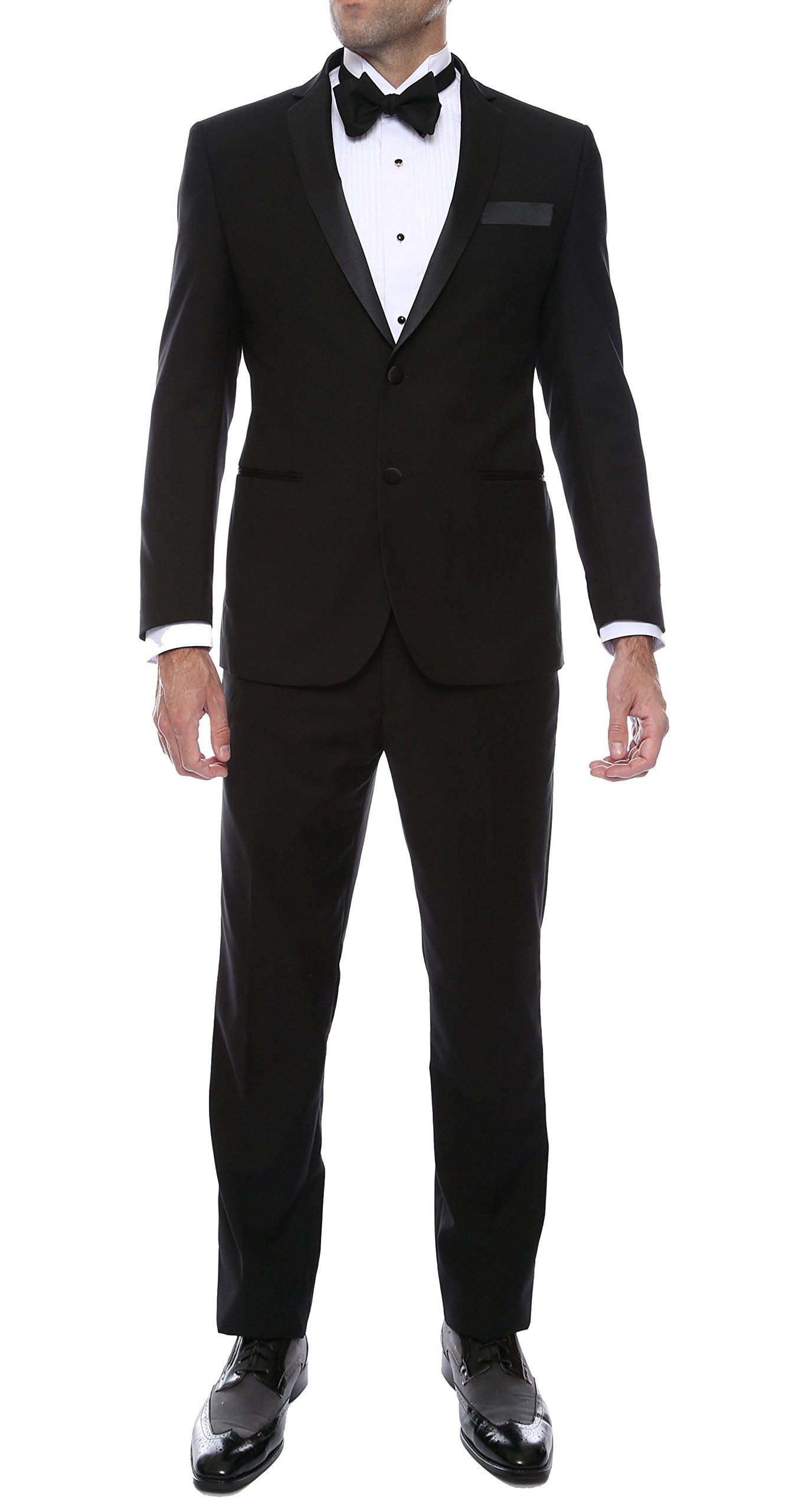 36R Ferrecci BRONSON Black Slim Fit 2pc Tuxedo by Ferrecci