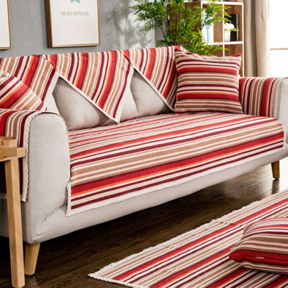 Home & Kitchen D&LE Sofa slipcover,Solid color Sofa covers ...
