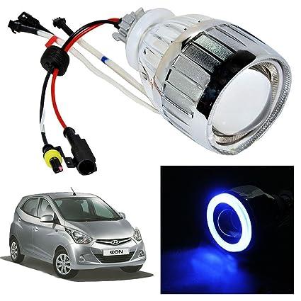 Vheelocityin Blue Ring Projector / Headlight / Headlamp For Hyundai EON