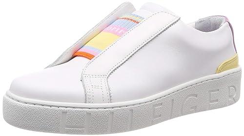 40 EU Tommy Hilfiger Dress City Sneaker Womens White Fashion Trainers