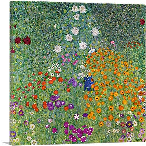 ARTCANVAS Flower Garden 1907 Canvas Art Print by Gustav Klimt- 18