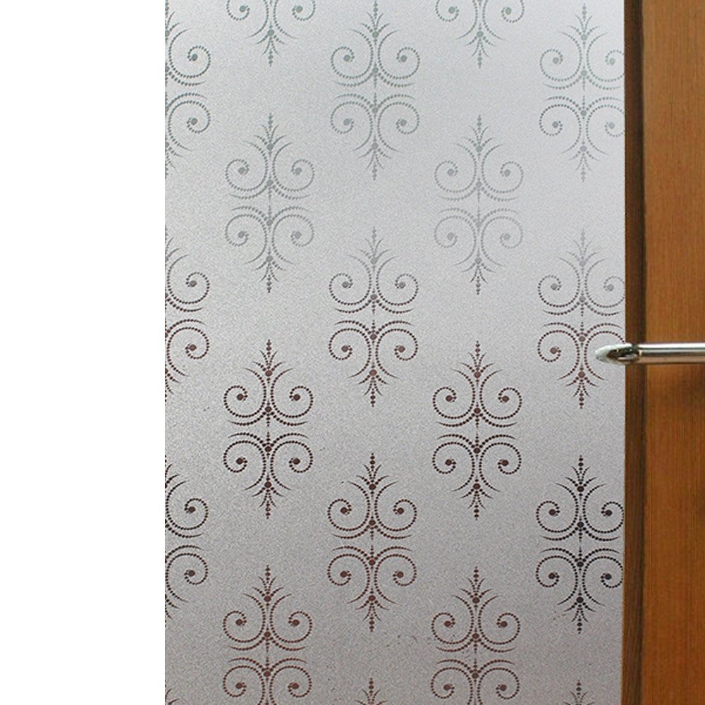 YETUGE 静電窓ガラス フィルム ステンドグラス 窓 ガラスフィルム のり不要 目隠し シート 装飾フィルム プライバシー対策 UVカット 飛散防止 B07DGBBQJX 90*3000CM|81 81 90*3000CM
