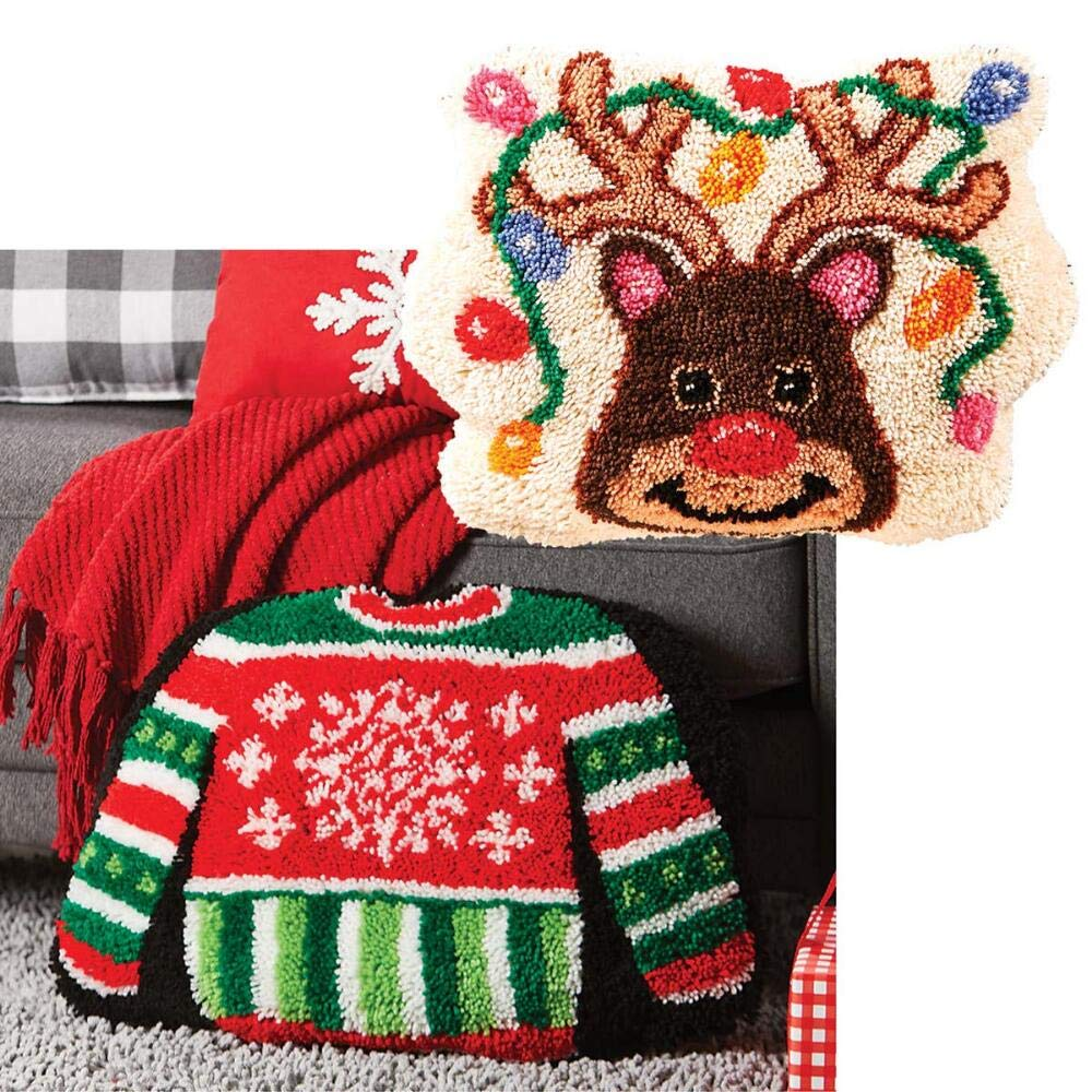 Sundance Reindeer Games /& Holiday Sweater Set of 2 Latch Hook Kit