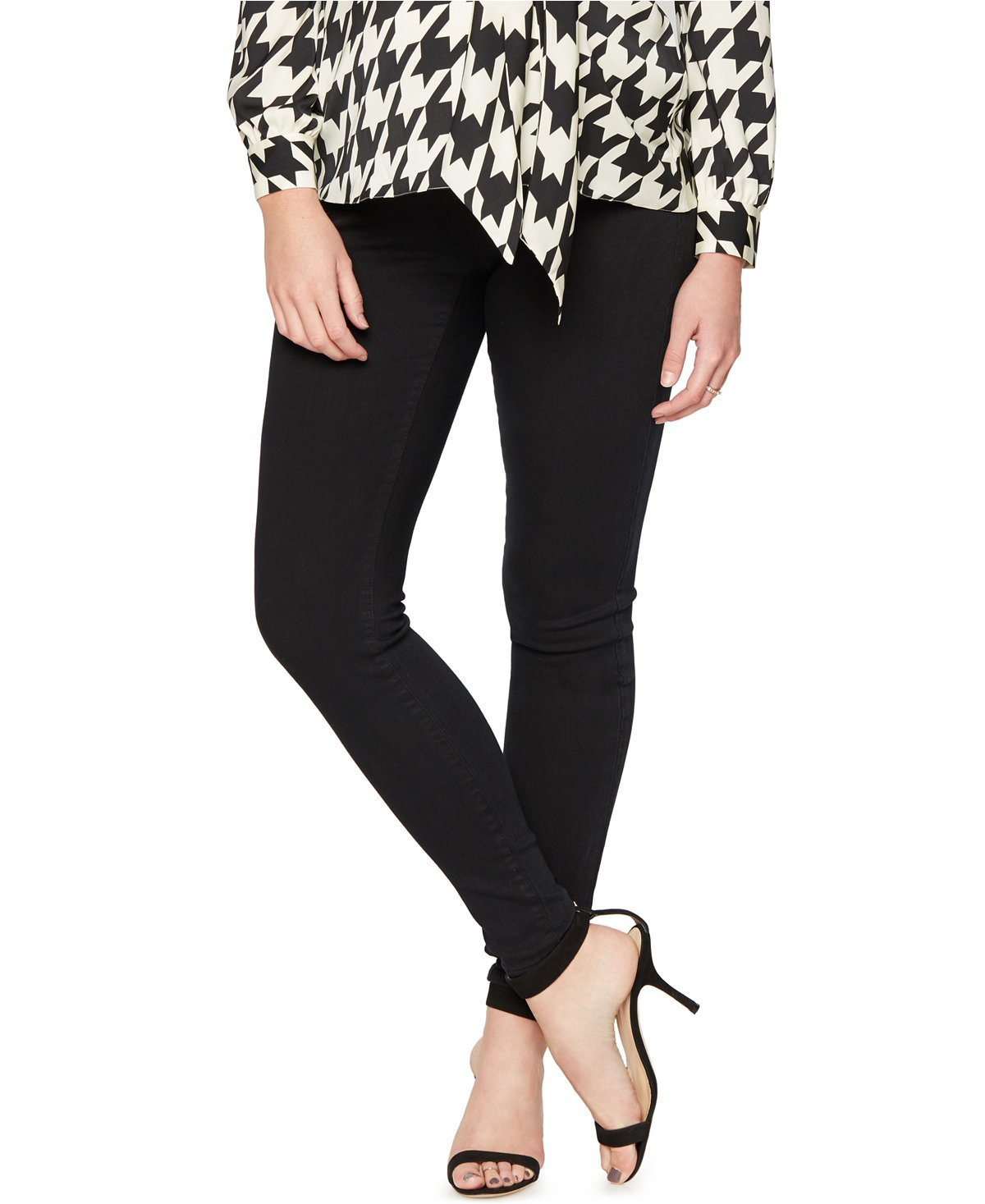 Belly Bliss Soft Black Maternity Skinny Jeans (X-Large)