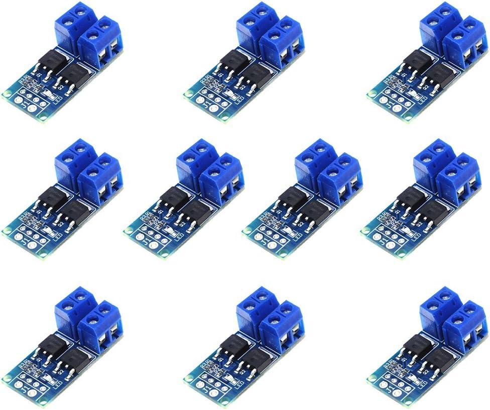 10 Stück Blau 15A 400W 5V-36V MOS-Triggerschalter Treibermodul FET PWM-Regler