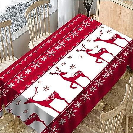 SONGHJ Algodón poliéster Rectangular Navidad Decorativo Mantel Cocina Sala de Estar Elk Bell Manteles Mesa de Comedor Cubierta B 150x300cm / 59x118in: Amazon.es: Hogar