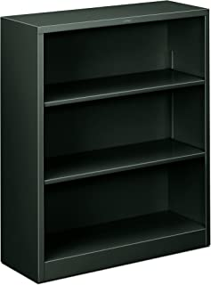 product image for HON Metal Bookcase - 3-Shelf Bookcase, 34-1/2w x 12-5/8d x 41h, Charcoal (HHS42ABC)