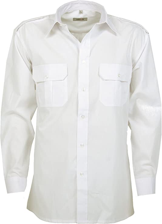Arrivee - Camisa de manga larga para piloto, talla L-4XL (41/42-49/50): Amazon.es: Ropa y accesorios