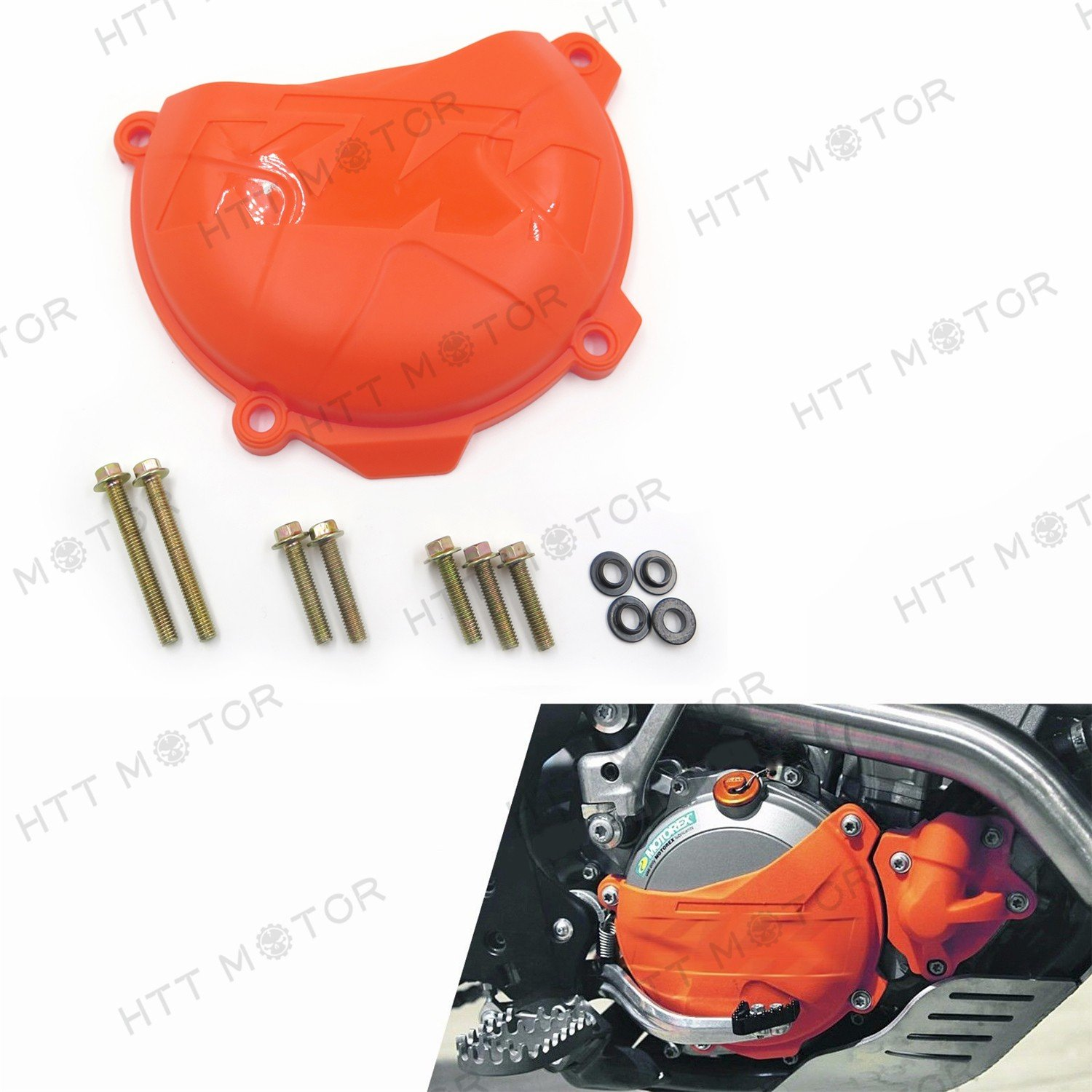 ABS Clutch Cover Guard for KTM 250 350 SX-F XC-F EXC-F/6 DAYS XCF-W 2014-2016 HTTMT