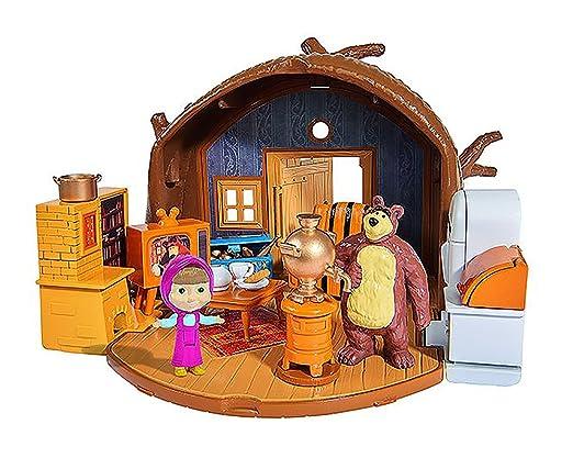 HOUSE BEAR MASHA PACKABLE 109301632 Masha and the Bear - Bear's Home Playset Dollhouse Accessories at amazon