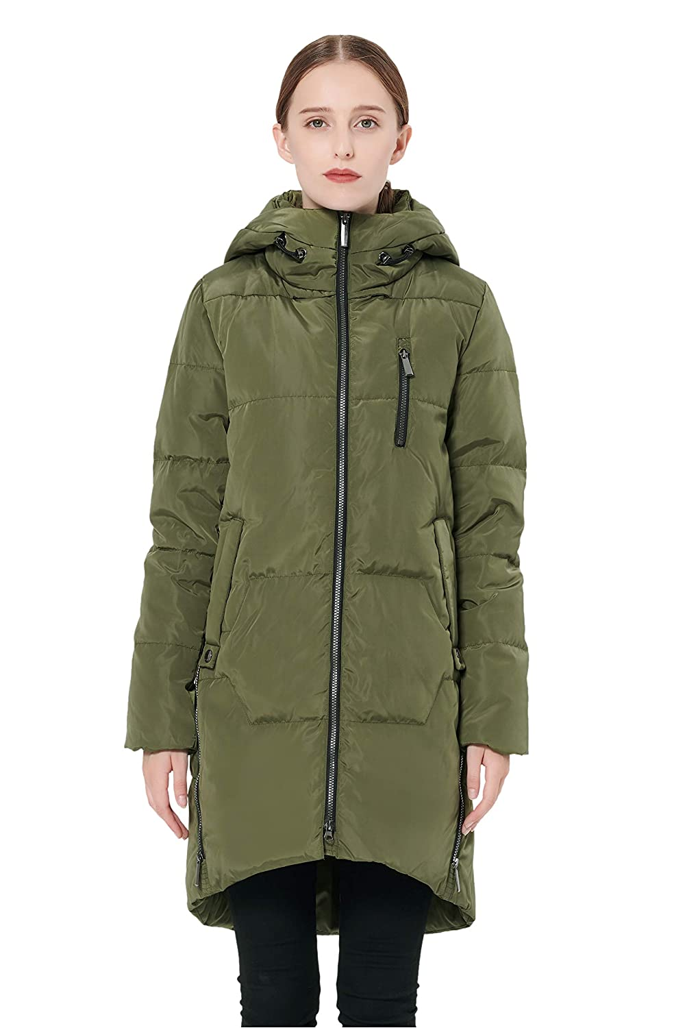 701a4ffc59de Amazon.com  Orolay Women s Stylish Down Coat Winter Jacket with Hood ...