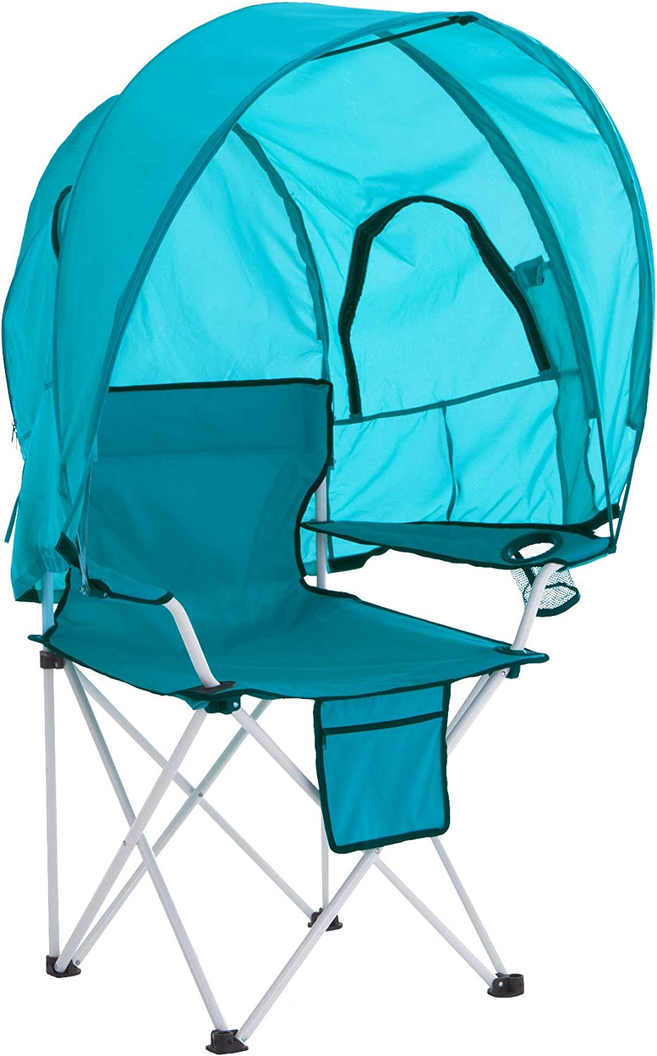 BrylaneHome Camp Chair with Canopy Breeze