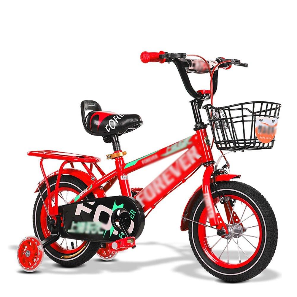 折りたたみキッズチャイルドバイク子供用自転車2歳から11歳12 14 16 18 20インチブルーレッドイエロー調節可能 B07DV15Z2F 14 inch 赤 赤 14 inch