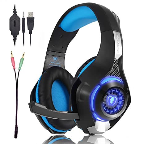 Beexcellent Gaming Headset GM-1 with Microphone for New Xbox 1 PS4 PC  Cellphone Laptops Computer - Surround Sound, Noise Reduction Game  Earphone-Easy