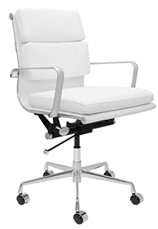 SOHO Eames Style Soft Pad Management Chair (White)  sc 1 st  Amazon.com & Amazon.com: SOHO Eames Style Soft Pad Management Chair (White ...