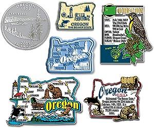Six-Piece State Magnet Set - Oregon