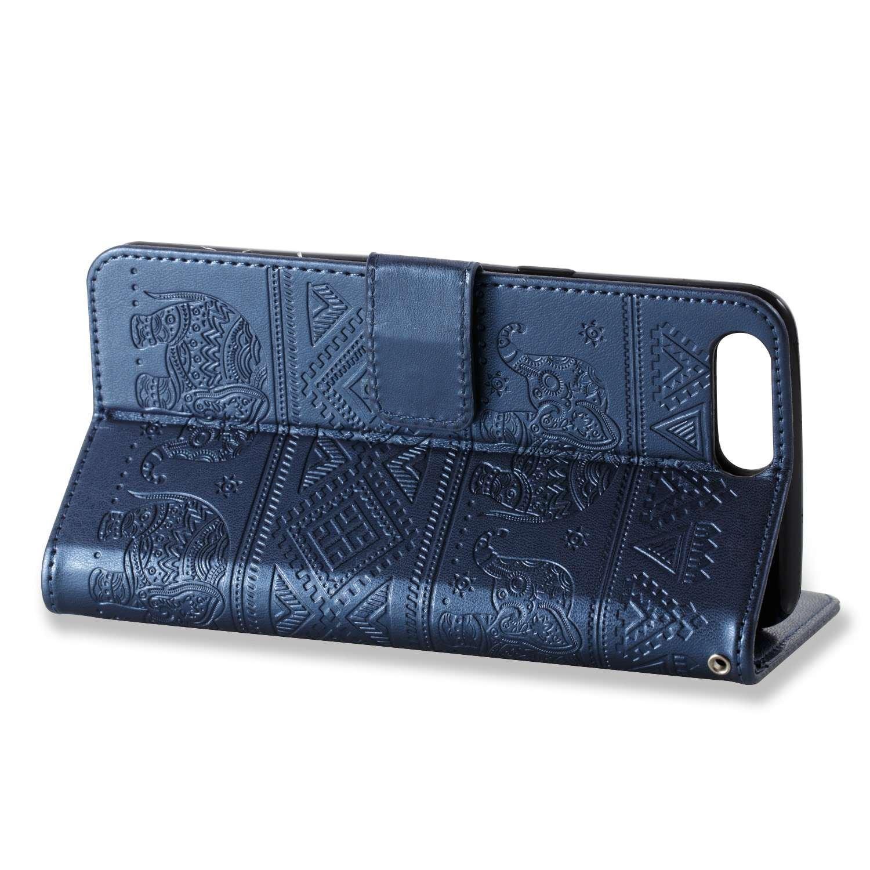 pinlu /Étui pour Sony Xperia XZ Premium Haute Qualit/é Ultra-Mince Etui avec Slot Pochette Portable Flip Wallet Housse Similicuir Portefeuille /Él/éphants Or Rose