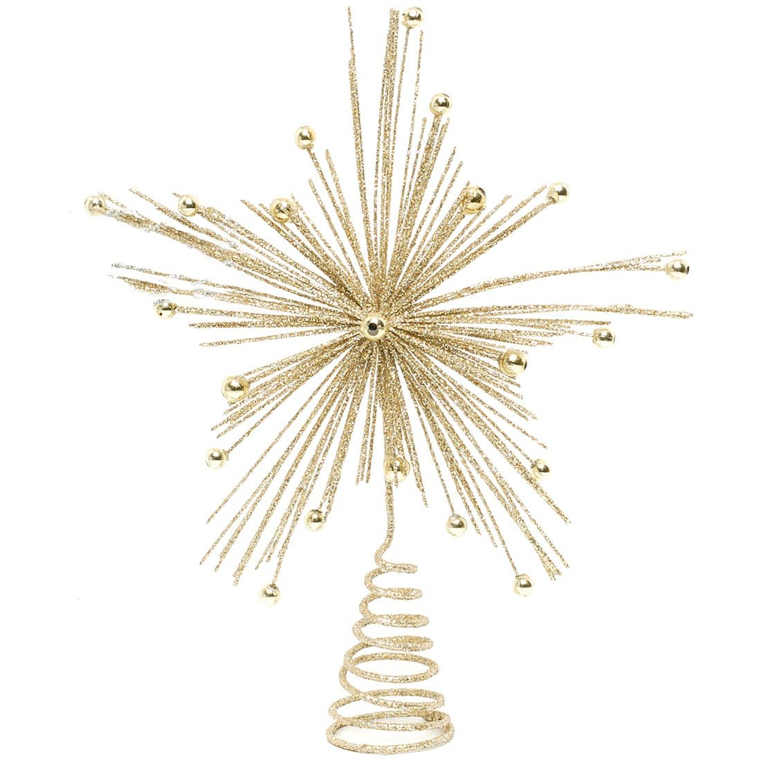 Festive Productions Glitter STARBURST Christmas Tree Topper : 20cm : Gold : 176663 Festive Productions @ WOWooO