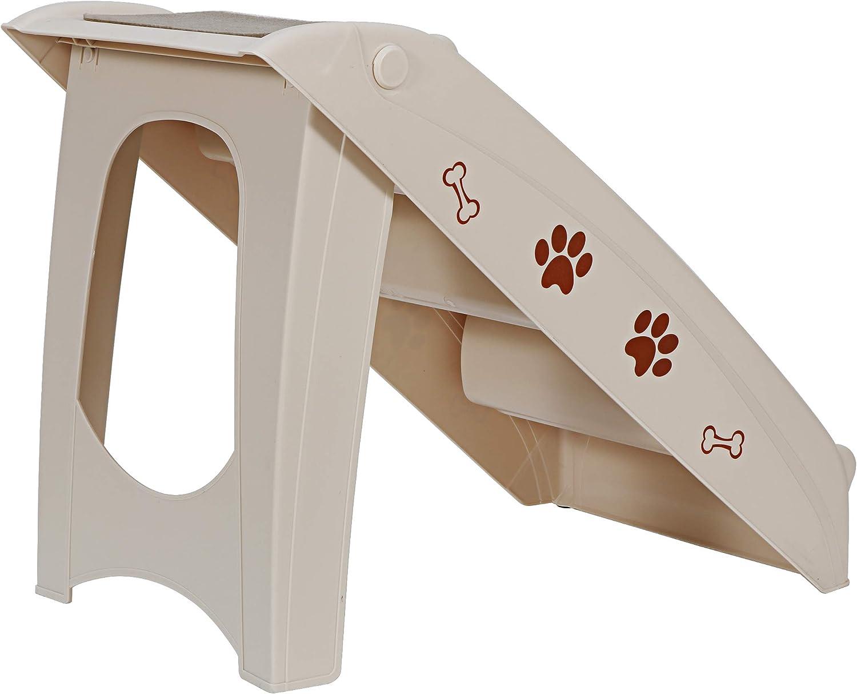 vidaXL Escalera Plegable para Perros Gatos Cachorro Autom/óvil Sof/á Escalones Mascotas Mueble Acolchada Decoraci/ón Hogar Robusto Duradero Crema