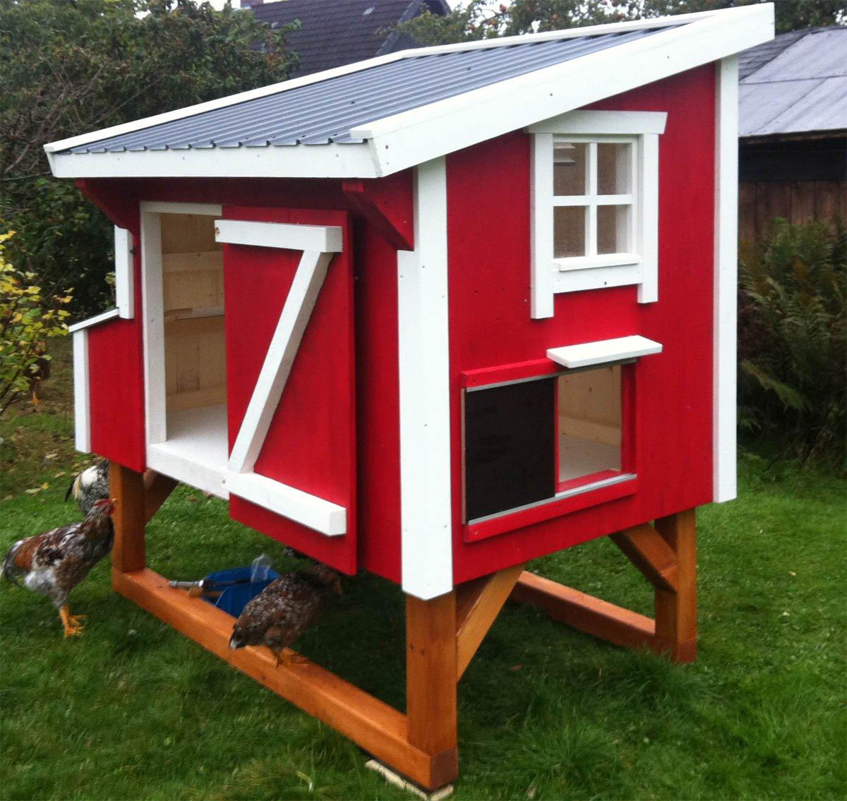 Designer Hühnerstall hühnerstall small coop für 5 bis 7 hühner bauweise
