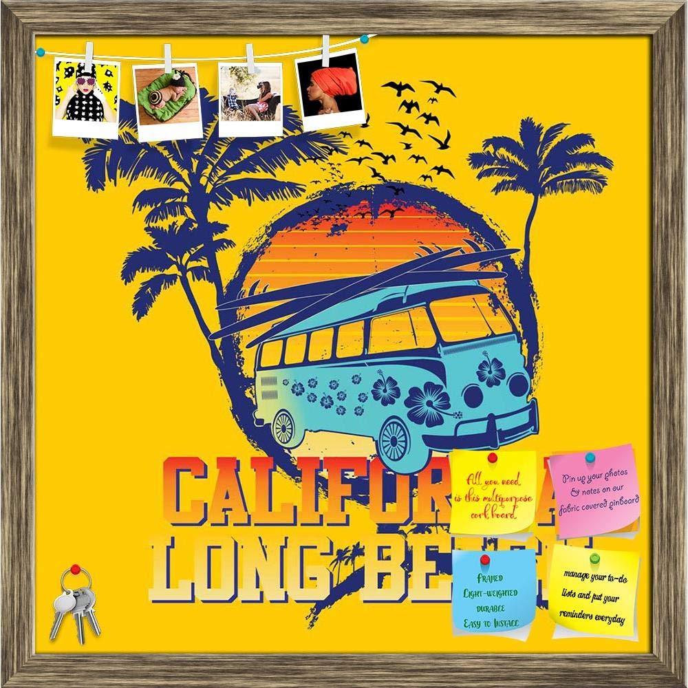 Artzfolio Palm Beach Van Printed Bulletin Board Notice Pin ...