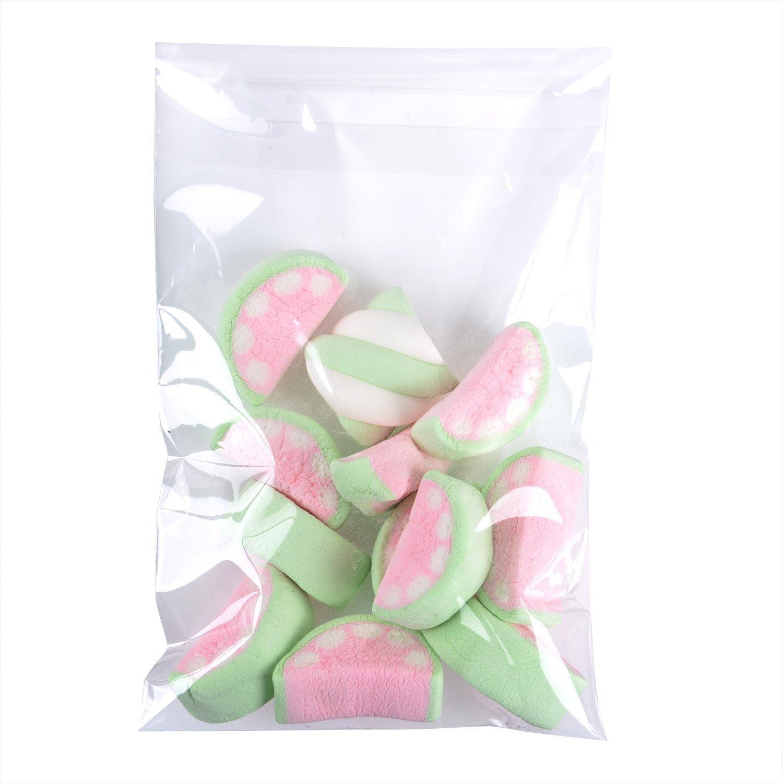 13 15cm 300pz Sacchetti Bustine Sacchettini Plastica Trasparenti Alimentari con Striscia Adesiva per Bomboniera Dolci Alimenti Confetti Biscotti Gioielli