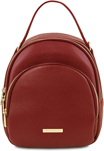 Tuscany Leather TLBag Leather backpack for women Red