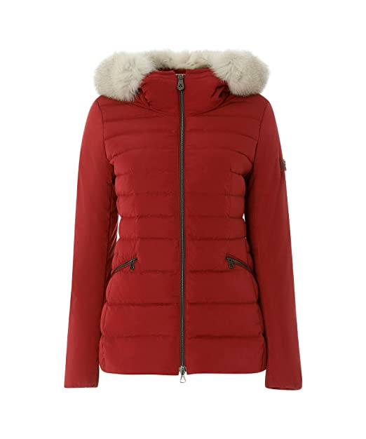 size 40 cab9a d3117 PEUTEREY - PEUTEREY donna piumino giacca rosso con pelliccia TURMALET 01  FUR 023 - 25808 - 46