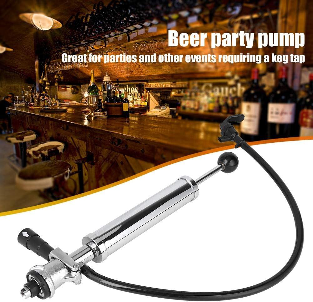 Cocoarm Beer Keg Pump Chrome Stainless Steel Pump 8 Inch Party Beer Pump S Type Beer Pump Heavy Duty Beer Pump Picnic Beer Pump