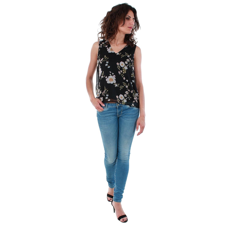 Vero Moda Camiseta Mujer Negro 10198943 VMKAY SL Top Black/Emili Pri: Amazon.es: Ropa y accesorios