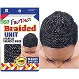FreeTress Braided Unit Partial Braided Piece Classic Pattern Head Crochet Cap Shake N Go Black