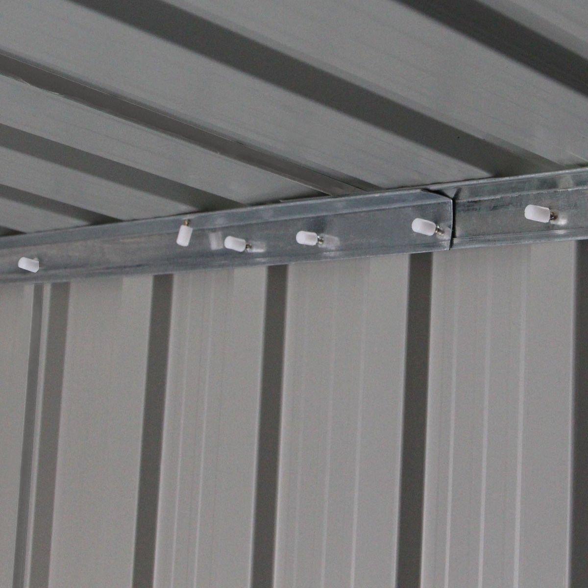 9' X 6' Outdoor Garden Storage Shed Tool House Sliding Door Steel Khaki New by tamsun (Image #8)