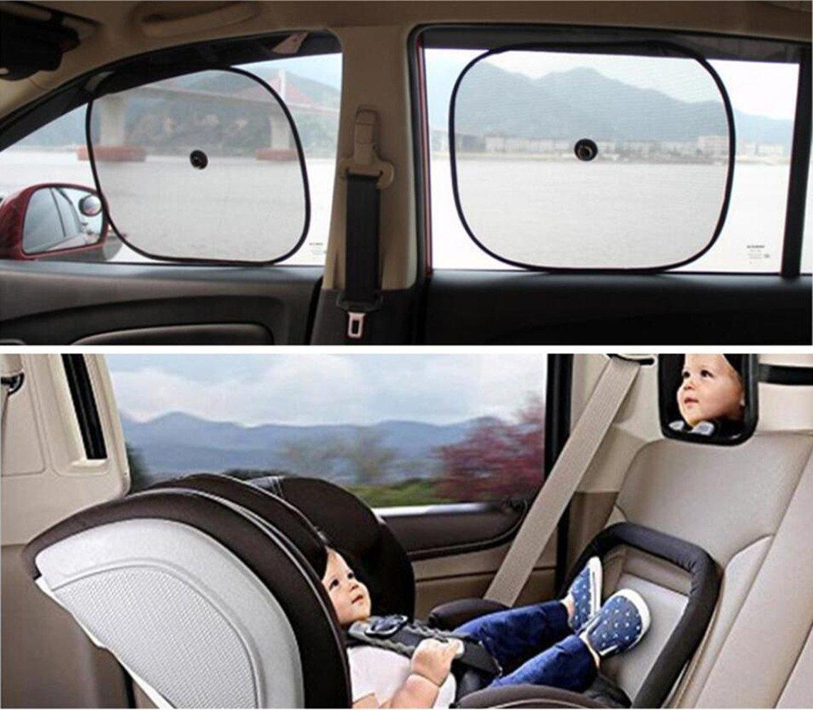 Emwel incassable Plus s/ûre vue arri/ère Si/ège arri/ère miroir convexe r/églable avec clip et ventouse pour b/éb/é enfant pour enfant avec incassable S/écurit/é Surface Baby Car Mirror 88*58 mm