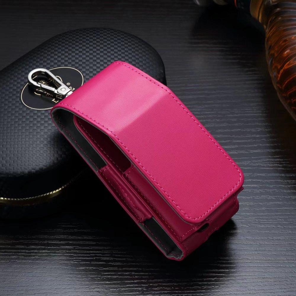 Custodia in pelle per il kit della sigaretta elettronica, per IQOS o per supporto IQOS, di colore nero, custodia protettiva, portatile, antigraffio, professionale, da viaggio Pink JOMA-E Shop