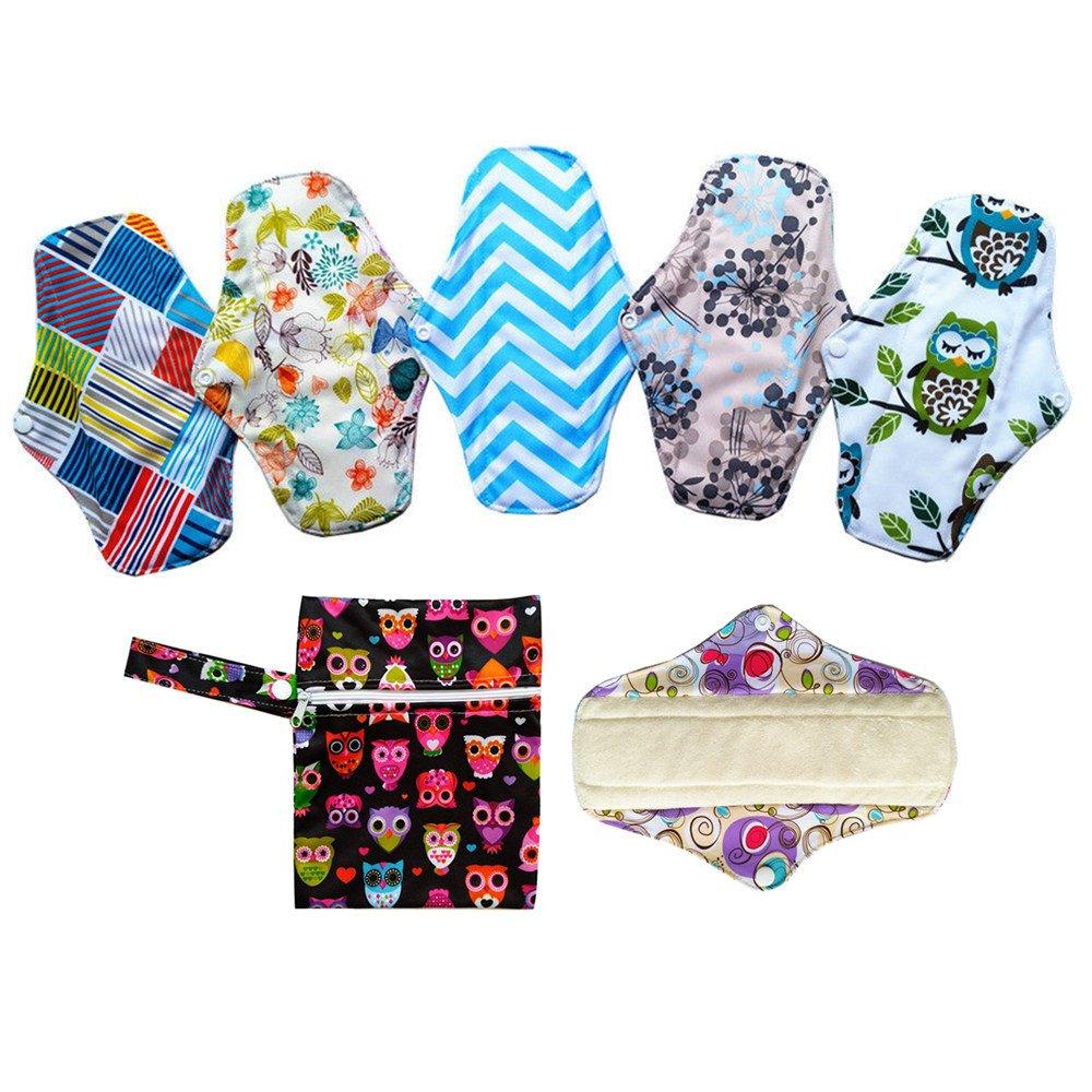 Lot de 625, 4cm Serviettes hygiéniques lavables en bambou Pads menstruel Chiffon + 1mini sac humide china