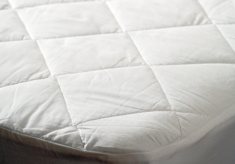 Belledorm - Protector de colchón antialérgico e impermeable (algodón, 137 x 191 cm): Amazon.es: Hogar