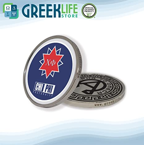 Amazon com: Chi Phi Silver Color Small Collectible Challenge Coin